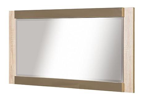 Specchio arowana 21 colore: rovere latte matt dimensioni: 56 x