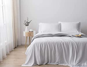 Paradise Bamboo Sheets by Oasis - 4 Piece Sheet Set - Softest Bed Sheets (King, Cirrus)