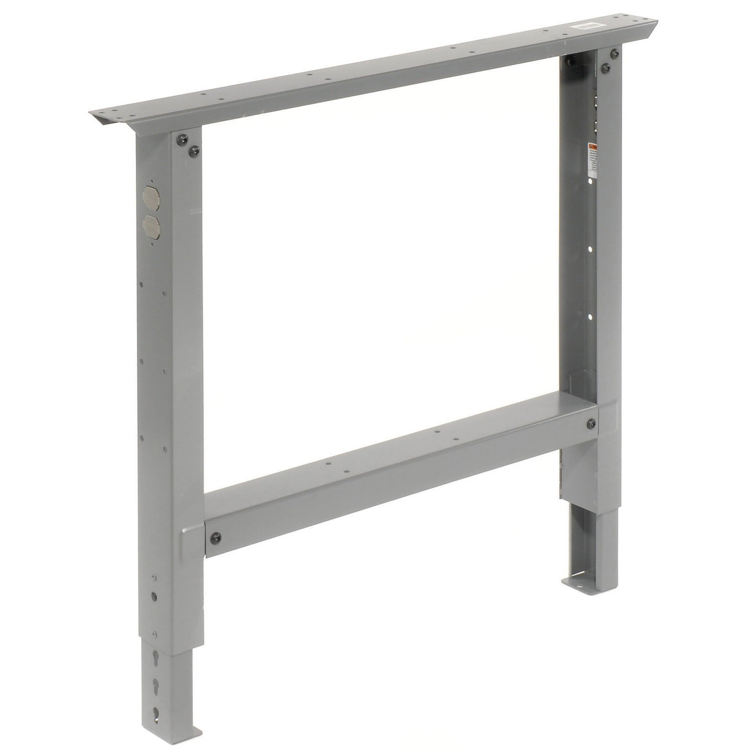 Adjustable Height Leg For 36'' Benches, 27-7/8 To 35-3/8, Gray
