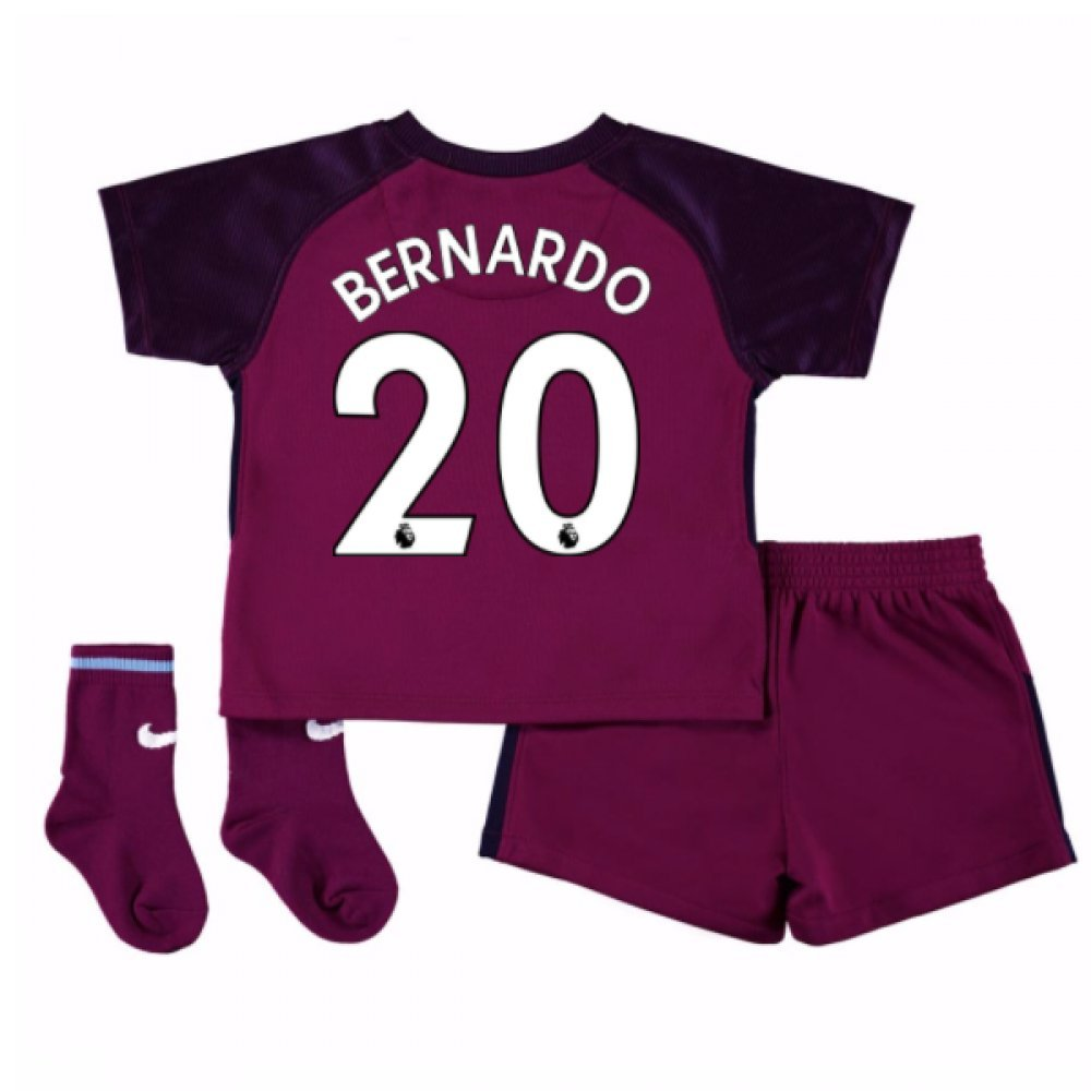 2017-18 Man City Away Baby Kit (Bernardo 20) B077PRX8F4Pink 6/9 Months