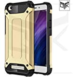 Redmi 4A Back Cover - Special Edition Rugged Slim Rubberised Armor Back Cover for Redmi 4A (Metallic Golden) - From TheGiftKart™