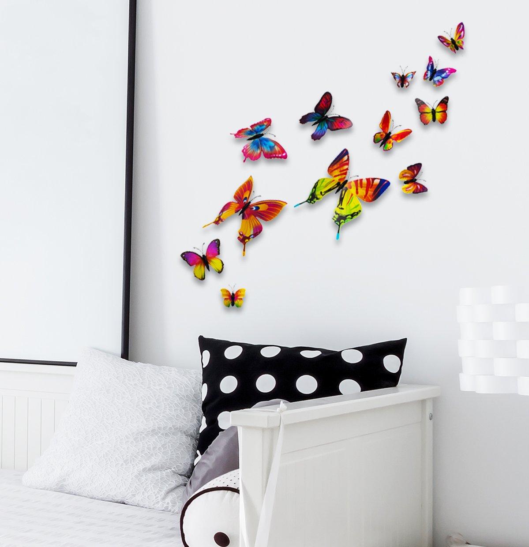 Vinilo Decorativo Pared [756LW36Y] mariposas 3D