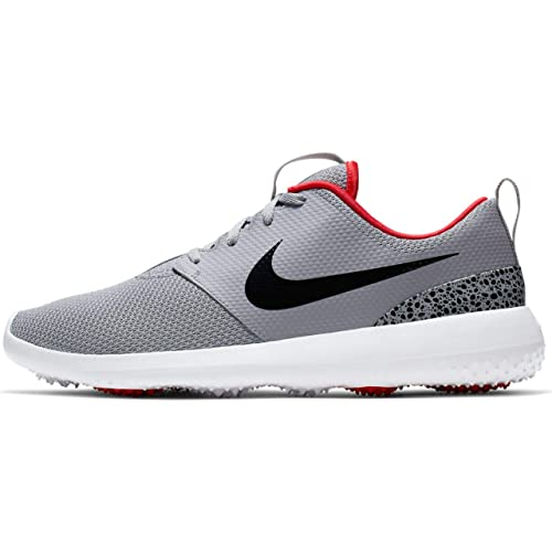 low priced a4d04 e4179 NIKE Roshe G Spikeless Golf Shoes 2019 Cement Gray Black White University  Red