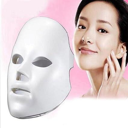 JL LED Máscara Facial 7 Colores Tratamiento Ligero Facial Belleza Cuidado De La Piel Terapia Acné
