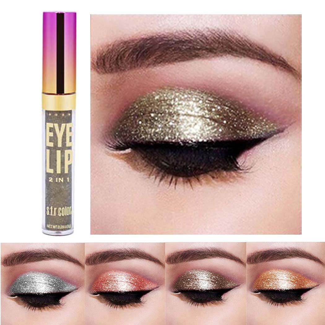 Edanta Glitter Eyeshadow Shimmer Liquid Eyeshadows Long Lasting Eye Shadow Makeup Metallic Shining Liquid Eye Make up for Women and Girls Pack of 1 (Gold 3)