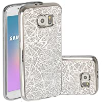 Galaxy S4 Mini Case,Berry Accessory Beauty Glitter Sparkly Bling Luxury Ultra Slim Soft Premium Electroplated TPU Cover Case for Samsung Galaxy S4 Mini - Sliver