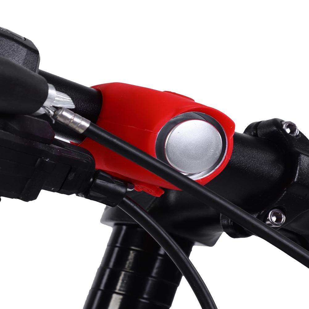 Rosso Campanello Elettrico per Bicicletta Campanello Bici Adatto per Ciclismo Allaperto Accessori di Campanello per Bicicletta Suono Sicuro