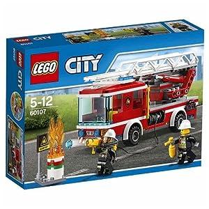 LEGO City 60107 - Feuerwehrfahrzeug mit fahrbarer Leiter