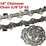 Best to Buy New 18 Inch 62 Drive Substitution Chain Saw Saw Mill Chain 3/8 Inch Links Pitch 050 Gauge husqvarna chainsaw mill ripping chain worx parts greenworks