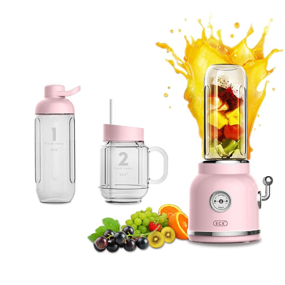 Aolvo Drink Mixer Juicer for Making Ice Cream/Fruit Juice/Milk Shake/Smoothie - with Sport Bottle/Straw Cups Power Juicer