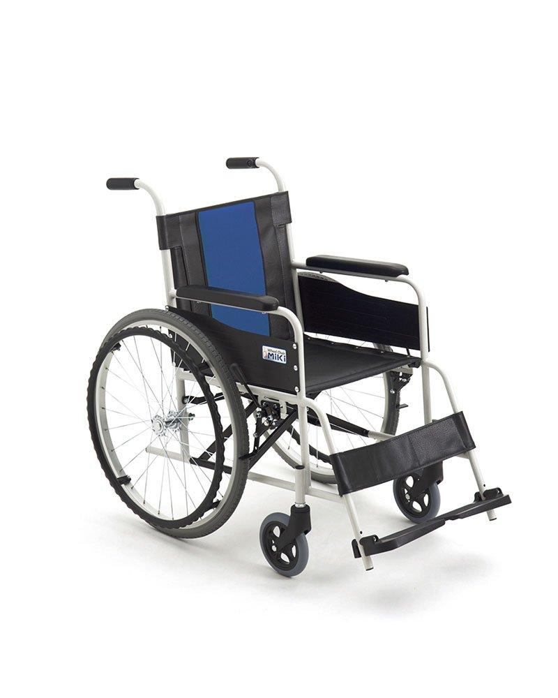 【非課税】ミキ FE-3 スチール製 自走型車いす ブルー 40 B06W2KDHZ3