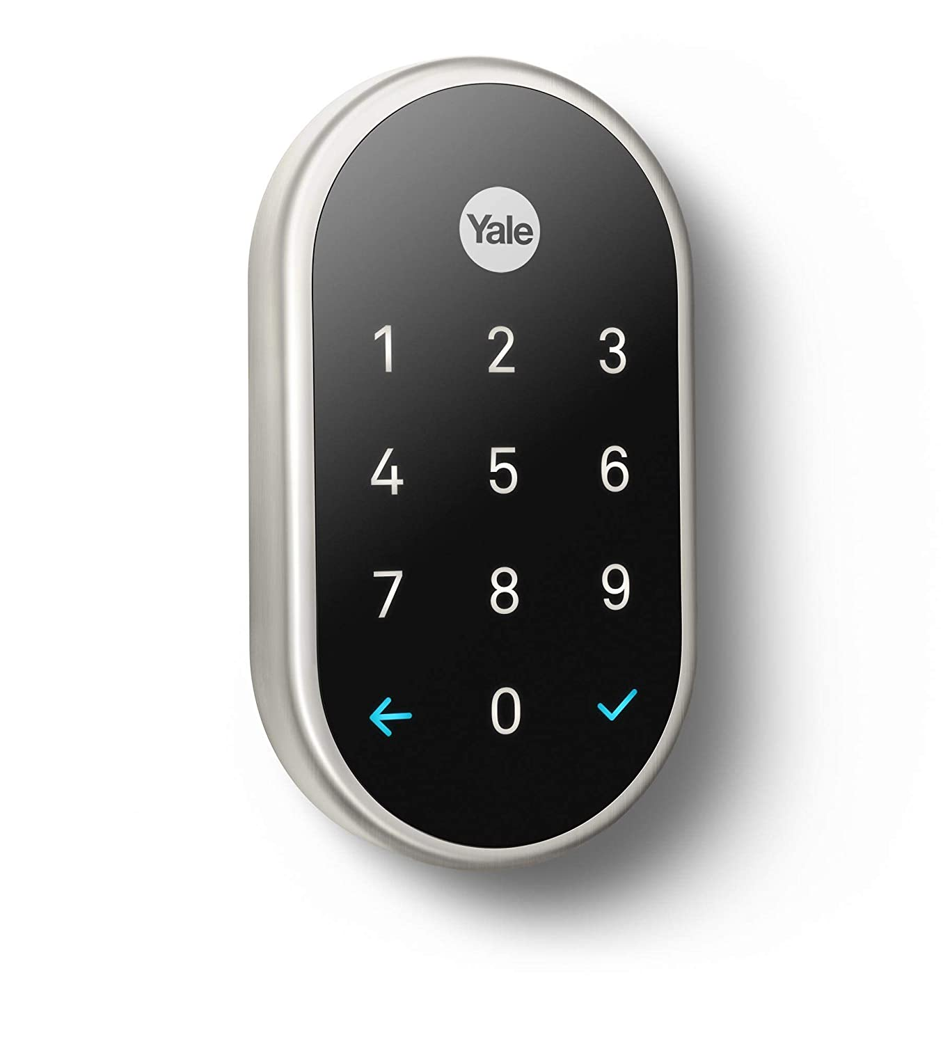 Google, RB-YRD540-WV-619, Nest x Yale Lock with Nest Connect, Smart Lock, Satin Nickel