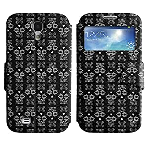 LEOCASE Patrón oscuro Funda Carcasa Cuero Tapa Case Para Samsung Galaxy S4 I9500 No.1001984