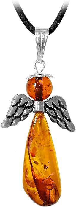 collier homme ambre et cuir
