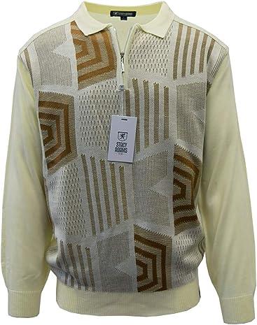 STACY ADAMS Mens Sweater, Honeycomb Jacquard Design
