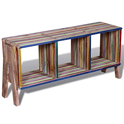 Amazon Com Bestfurniture Handmade Reclaimed Teak Wood Media