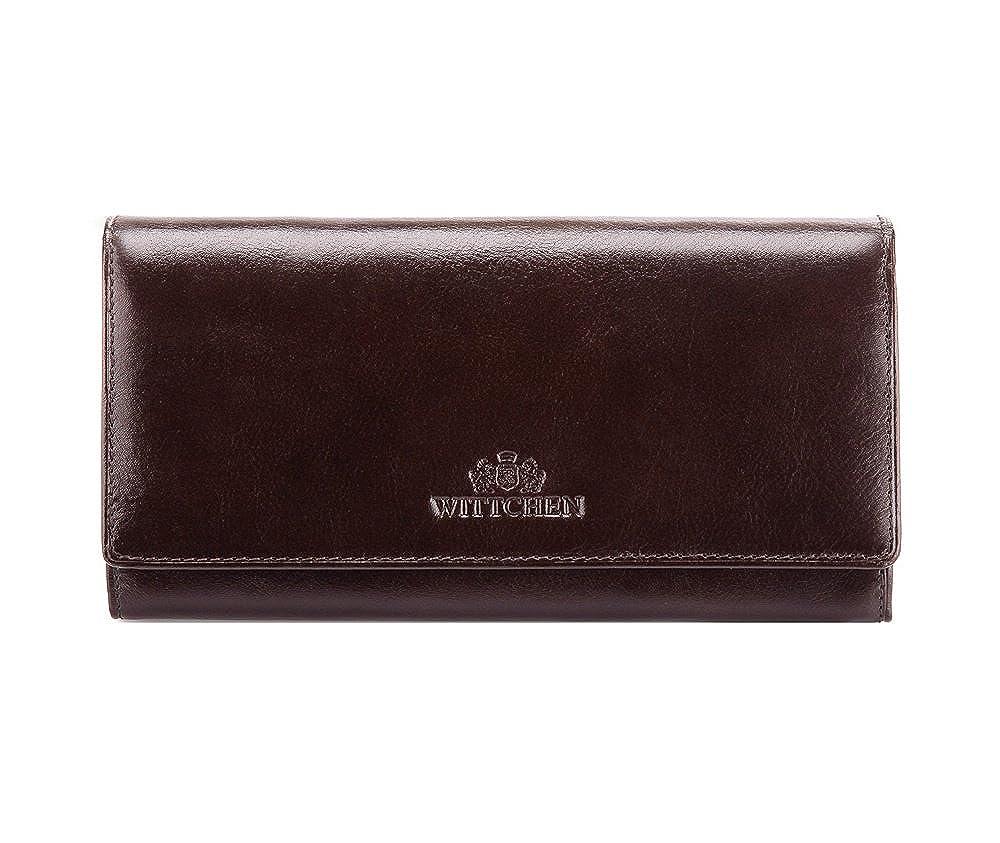 Wittchen Geldbörse   Farbe: Dunkelbraun  Material: Narbenleder  Größe: 18,5x10 CM,   Orientierung: Horizontal   Kollektion: Italy  21-1-052-4