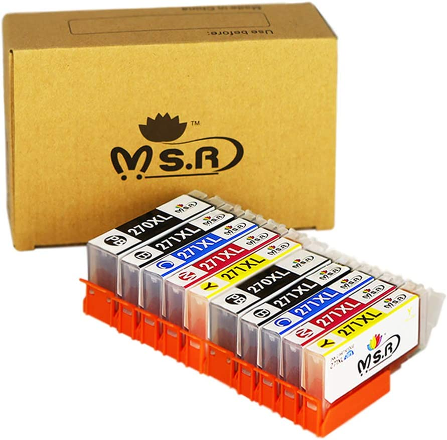 MS.R Compatible Ink Cartridge Replacement for Canon PGI-270 271 Ink Cartridges to use with PIXMA MG6820 MG6821 MG7720 MG5720 MG5722 TS6020 Printer (PGBK, Black, Cyan, Magenta, Yellow, 10 Pack)