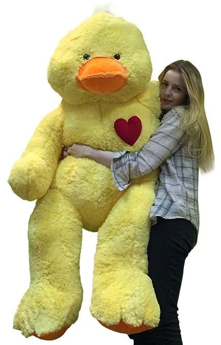 b06e03580df Amazon.com  Giant Stuffed Duck 48 Inch Soft 4 Foot Plush Ducky ...