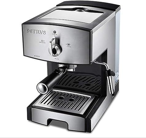 Cafetera semiautomática de 1350 W / 20 barras, cafetera de café con leche y cafetera de capuchino, viene con vaporizador de leche seguro, con molinillo eléctrico y taza de flores: Amazon.es: Hogar