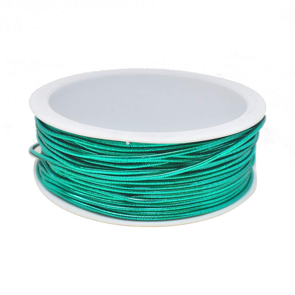 Green 1//16-Inch Homeford Stretch Cord Ribbon 15-Feet