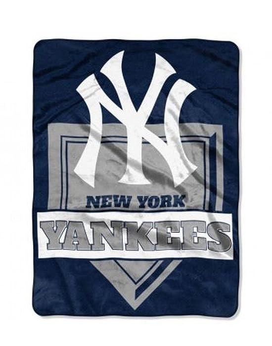 The Northwest Company MLB New York Yankees Royal Plush Raschel Throw, One Size, Multicolor