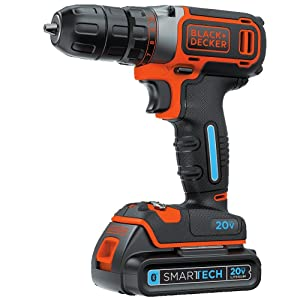 BLACK+DECKER BDCDDBT120C SMARTECH 20V MAX Lithium Single Speed Drill/Driv