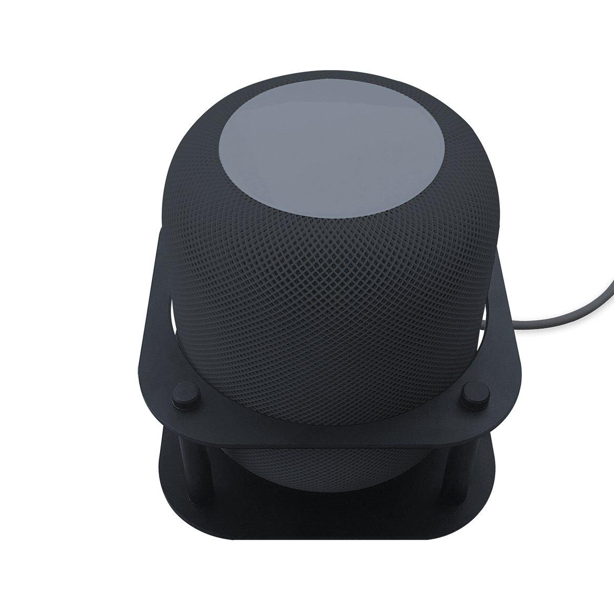 MeresアルミDetchableデスクトップマウントホルダースタンドブラケットfor AIスピーカー ブラック IGHP B07C94FXMF  ブラック