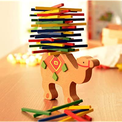 Balance Playing, Kids Educational Toys Camel Wooden Balance Game Montessori Blocks Toys Gift, Color Stick Balanced Wooden Toy (Camel): Arts, Crafts & Sewing