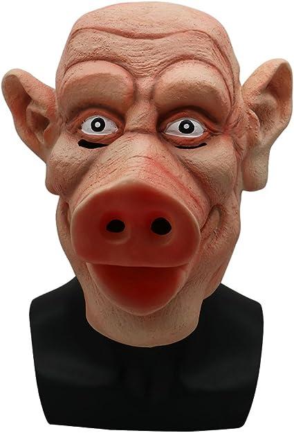Latex Scary Pig Head Mask Halloween Costume