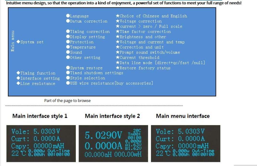 DYKB 5 Digits OLED Display Digital Multimeter Voltmeter Ammeter USB