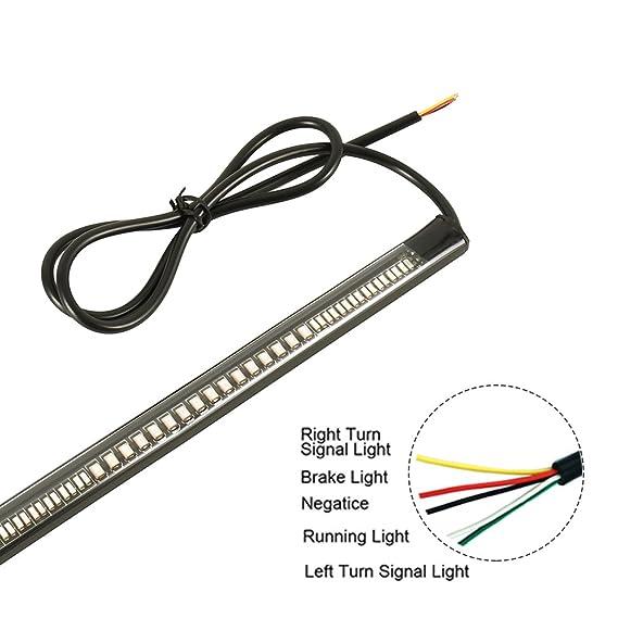 WarmCare - Kit de tiras de luz LED para motocicleta, 48 luces LED ...
