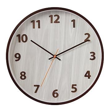Wall Clocks Wanduhr Uhren Wecker Uhr Haushalt Pendeluhr 14 Zoll Massivholz  Digital Leise Nicht