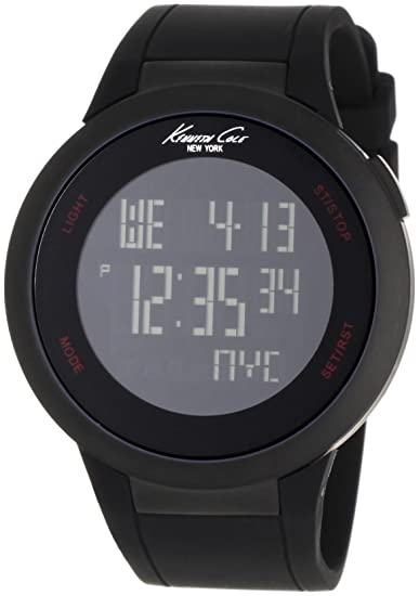 0f13b3331d Buy Kenneth Cole Digital Black Dial Men s Watch IKC1640 Online at Low  Prices in India - Amazon.in