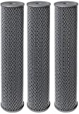 Pentek NCP-20BB Pleated Carbon-Impregnated Polyester Filter Cartridge, 20'' x 4-1/2'', 10 Microns (Pack of 3)