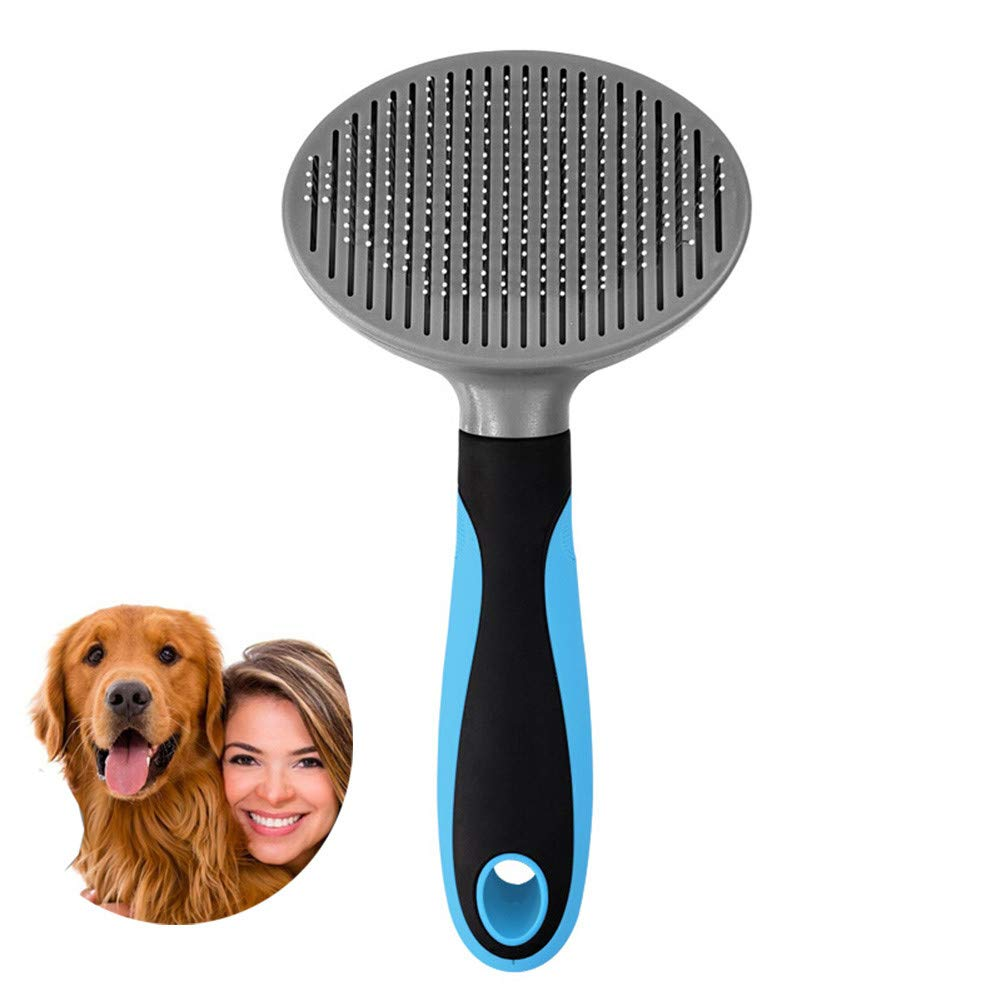 Pet Grooming Self Cleaning Dog Cat Brush,EliminatesTangles,Needle Comb Massage,for Long Medium Short Thick Wiry or Curly Hair,removes Loose Hair Dead Fur