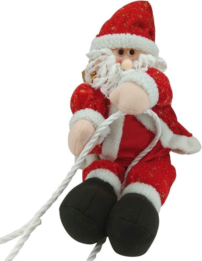 BESTOYARD Adorno de Navidad para colgar, diseño de Papá Noel, escalada en cuerda, decoración para interiores y exteriores, ventana, árbol de Navidad, 30 cm: Amazon.es: Hogar