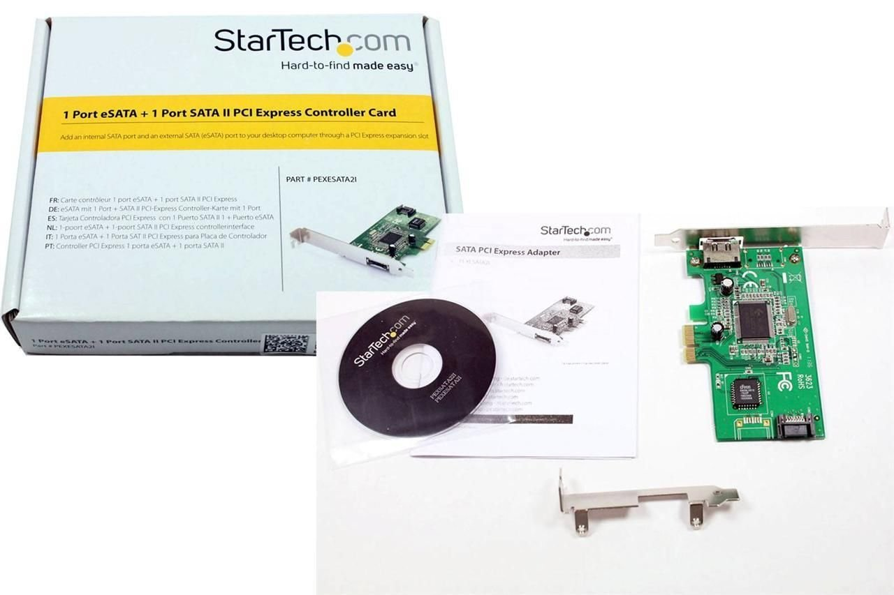 Amazon.com: StarTech 1 Port eSATA + 1 Port SATA II PCI ...