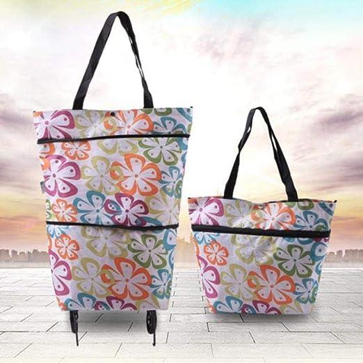 Plegables bolsos de compras con ruedas plegable bolsas de la ...