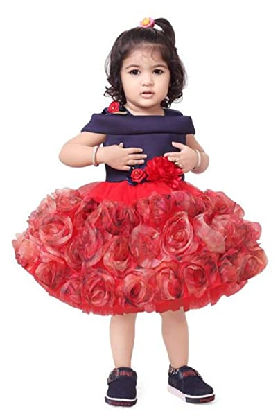 22937ebc8 Apna Party Dress Party Frock for Kids Multicolour (4-5 Years ...
