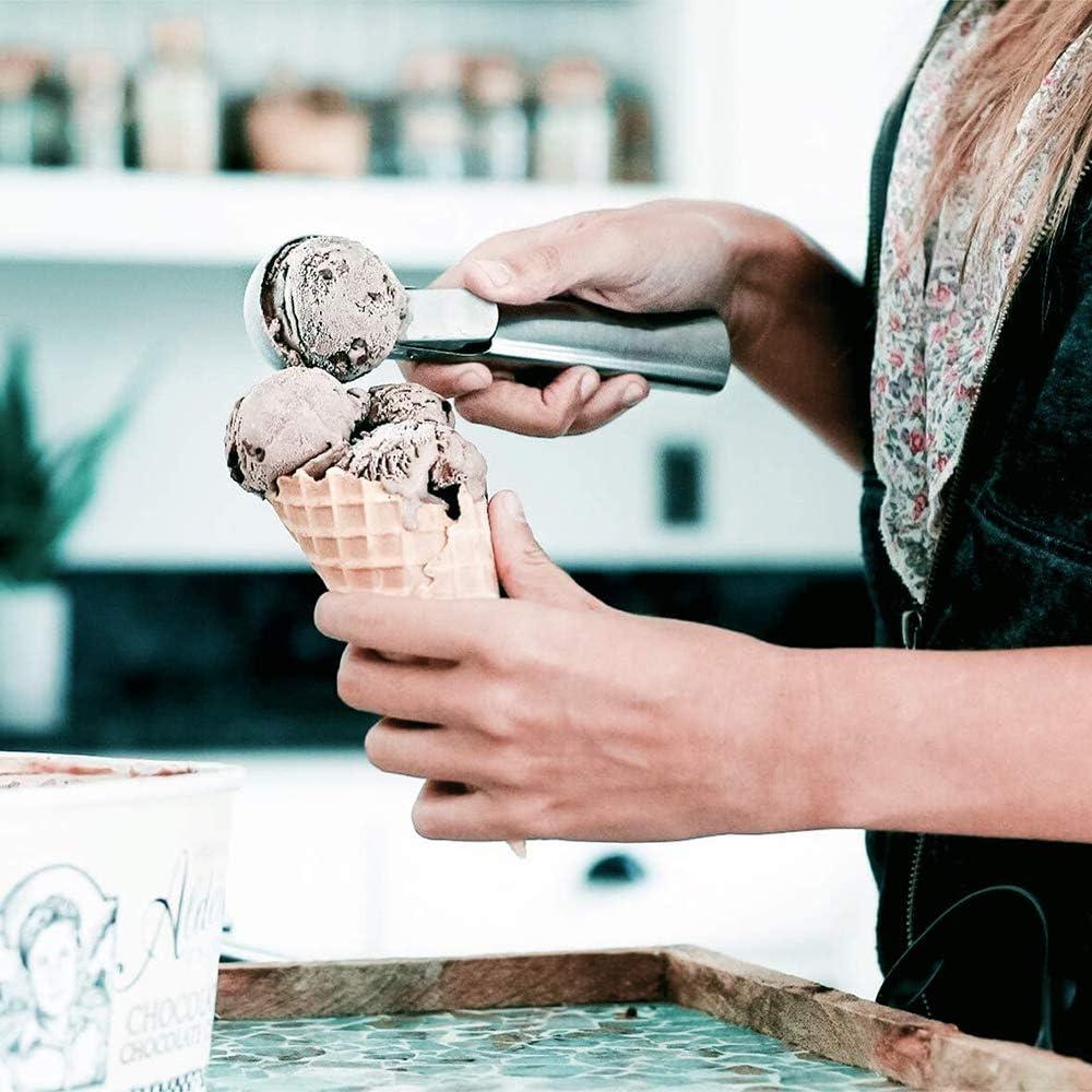 MAIYADUO Cuill/ère /à Glace Pelle /à Glace avec d/éclencheur Acier Inoxydable Biscuit g/âteau Cuill/ère Scooper Louche pour Les Fruits 2 pi/èces