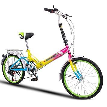 Paseo Bicicleta Universal Plegable para Mujer Ruedas de 20 Pulgadas ...