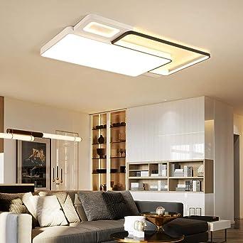 Blanco + Negro Terminado llevados modernos Lámparas de techo para ...