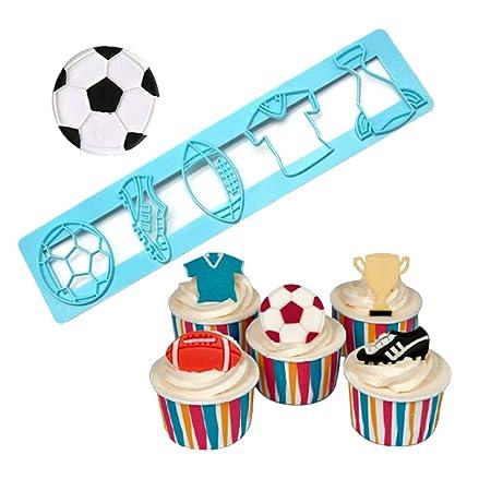 Molde para tartas de fútbol, decoración de cupcakes, prensas ...
