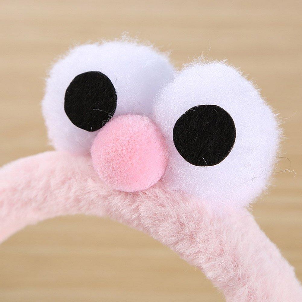 BAOBAO Cute 3D Big Eyes EarMuffs Foldable Soft Thick Plush Warm EarMuffs for Womens Girls