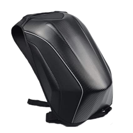 Welltobuy Bolso rígido Impermeable para Motocicleta Bolsa de Ciclismo Mochila para Motocicleta Bolsas de Equipaje de Fibra de Carbono para Carreras de ...