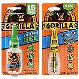 Gorilla Super Glue Gel 15g and Super Glue Brush & Nozzle 10g - Combo