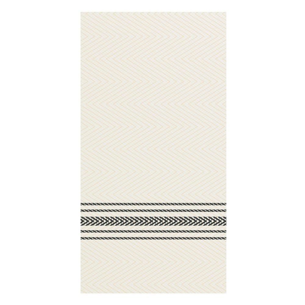 Hoffmaster FP1112 FashnPoint Black and White Dishtowel Printed Dinner Napkin, Ultra Ply, 15 1/2'' x 15 1/2'', 1/8 Fold (8 Packs of 100)