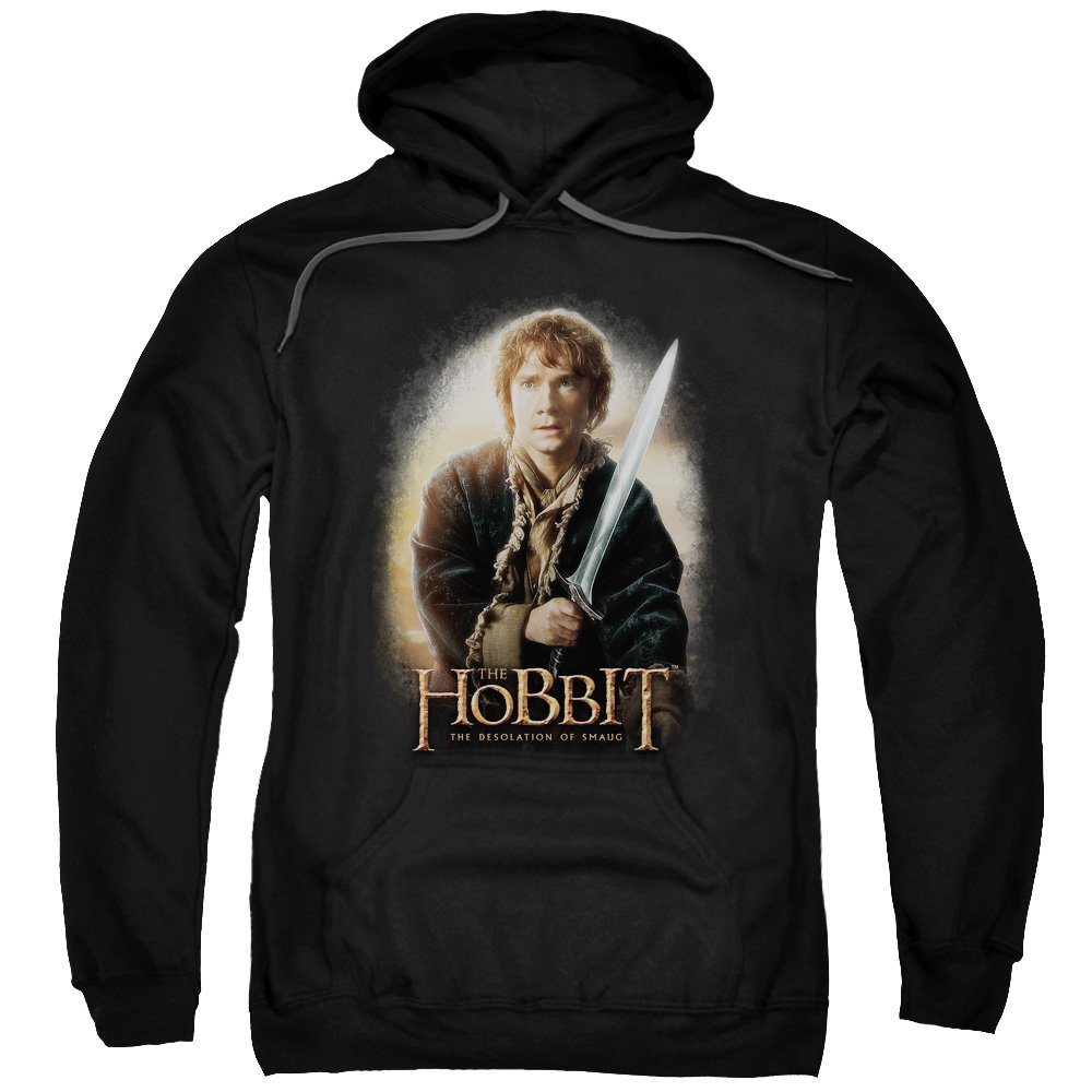 The Hobbit Bilbo And Sting Adult Pull-Over Hoodie
