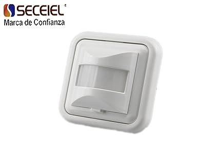 SECEIEL-Interruptor por detección de movimiento detector de movimiento Sensor de Movimiento de Superficie Angulo 160º 200W Altura 1m-1.8m Tiempo 10sec±3sec: ...